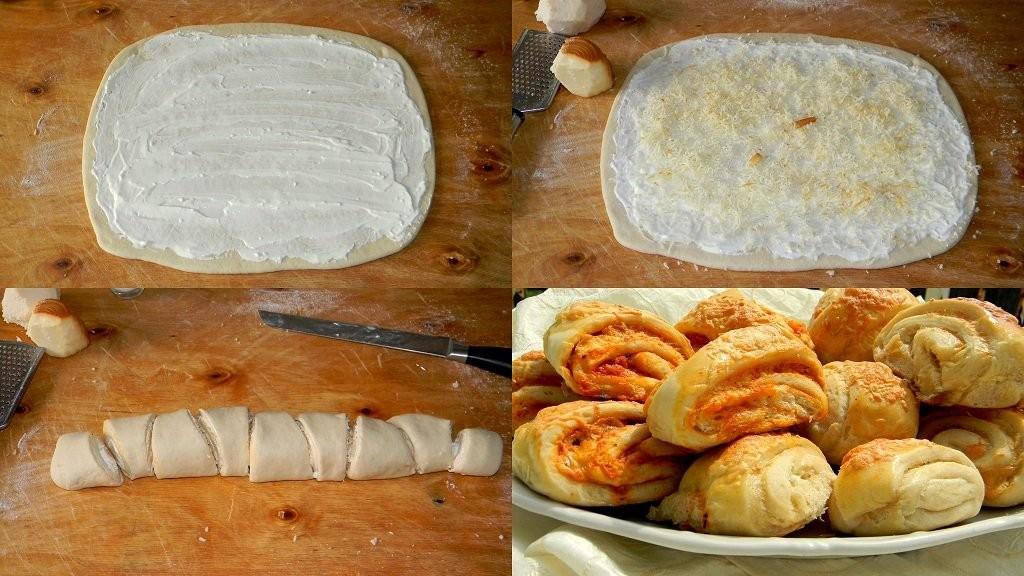 Pizzás és sajtos-tejfölös háromszögek